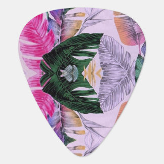 Onglet de guitare de motif de plante tropicale