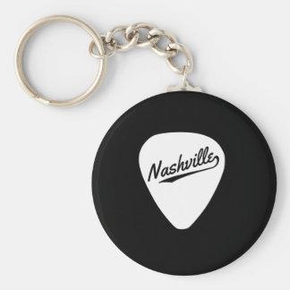 Onglet de guitare de Nashville Porte-clé Rond