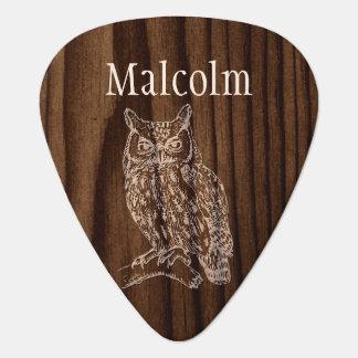 Onglet de guitare fait sur commande de hibou