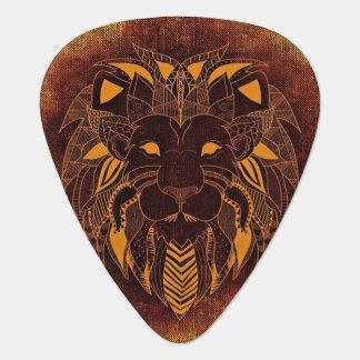 Onglet de guitare stylisé de tête de lion