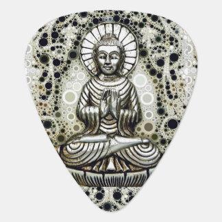 Onglets de guitare argentés de Bouddha
