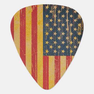 Onglets de guitare de grunge de drapeau américain