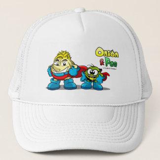 Onion et Pea characters hat. Casquette