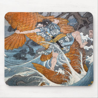 Oniwakamaru le jeune Benkei, Hiroshige Tapis De Souris