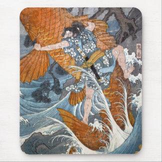 Oniwakamaru le jeune Benkei Hiroshige Tapis De Souris