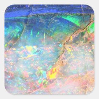 Opale d'océan sticker carré
