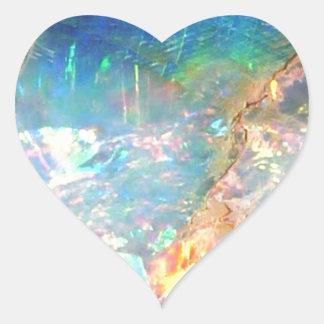 Opale d'océan sticker cœur