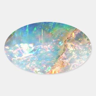 Opale d'océan sticker ovale