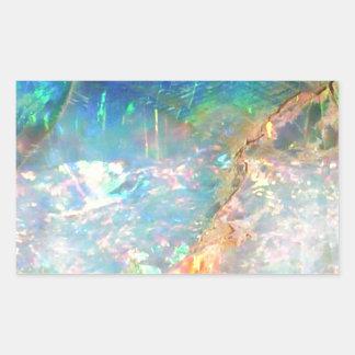 Opale d'océan sticker rectangulaire