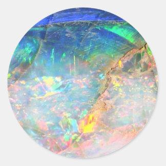 Opale d'océan sticker rond