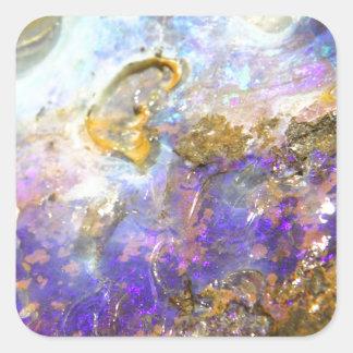 Opale d'or sticker carré
