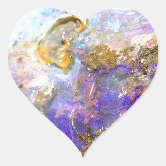 Opale d'or sticker cœur