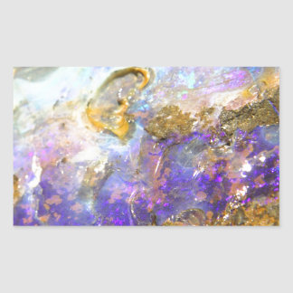 Opale d'or sticker rectangulaire