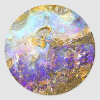 Opale d'or sticker rond