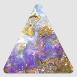 Opale d'or sticker triangulaire
