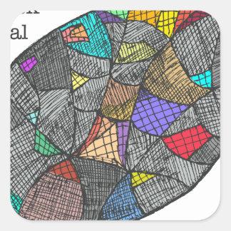Opale noire sticker carré