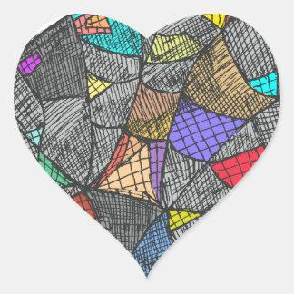 Opale noire sticker cœur