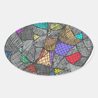 Opale noire sticker ovale