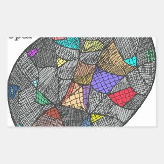 Opale noire sticker rectangulaire