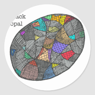 Opale noire sticker rond