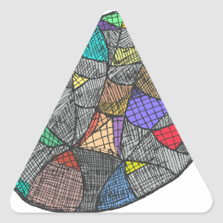 Opale noire sticker triangulaire