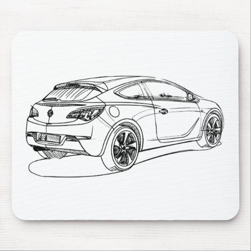 Opel astra gtc 2012 tapis de souris zazzle for Surface minimum bureau code du travail
