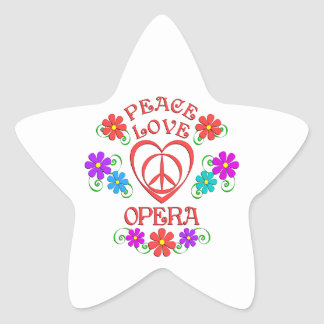 Opéra d'amour de paix sticker étoile
