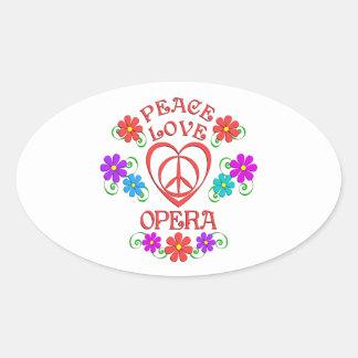 Opéra d'amour de paix sticker ovale