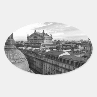 opéra Garnier, Paris, France Sticker Ovale