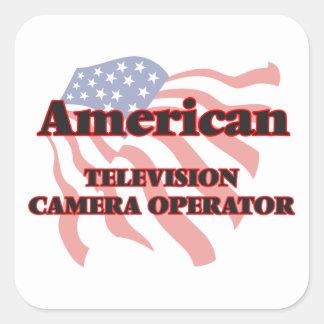 Opérateur américain de caméra de télévision sticker carré