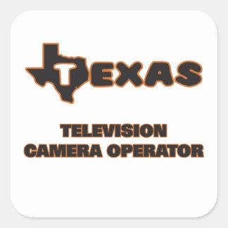 Opérateur de caméra de télévision du Texas Sticker Carré