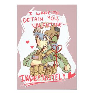 Opérateur Valentine 1 de Yandere Carton D'invitation 8,89 Cm X 12,70 Cm