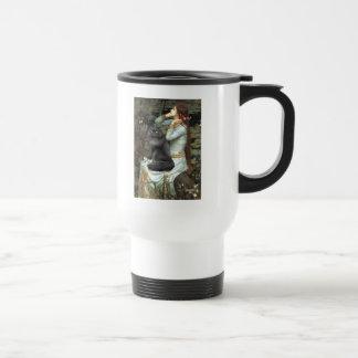 Ophélie - chat persan noir tasse