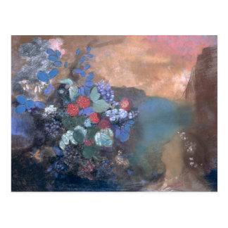 Ophélie parmi les fleurs, c.1905-8 carte postale