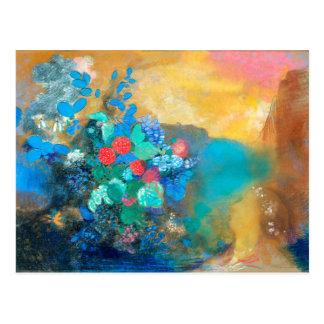 Ophélie parmi les fleurs | Odilon Redon Carte Postale
