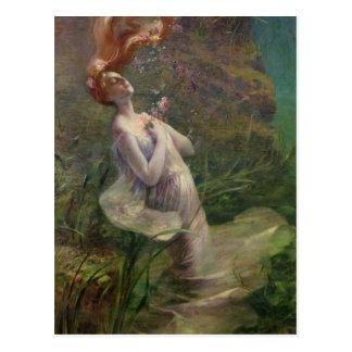 Ophélie se noyant, 1895 carte postale