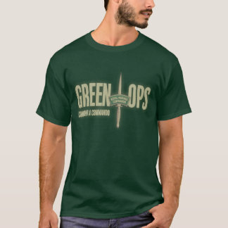 OpsT-chemise de vert du commando de la marine T-shirt