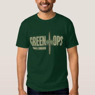 OpsT-chemise de vert du commando de la marine T-shirts