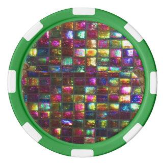 Options de couleur de bord de l'arrière - plan n rouleau de jetons de poker