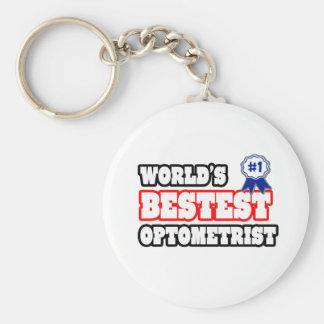 Optométriste de Bestest du monde Porte-clé Rond