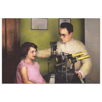Optométriste - l'examen de la vue 1929 papier mousseline