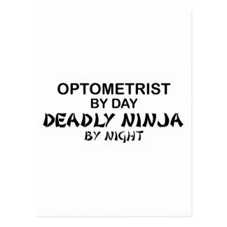 Optométriste Ninja mortel par nuit Carte Postale