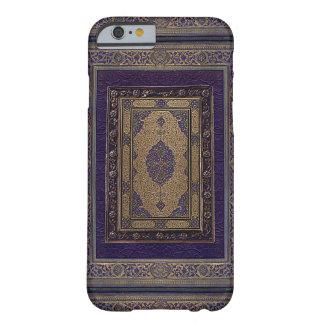 Or antique sur la couverture de livre décorative coque iPhone 6 barely there