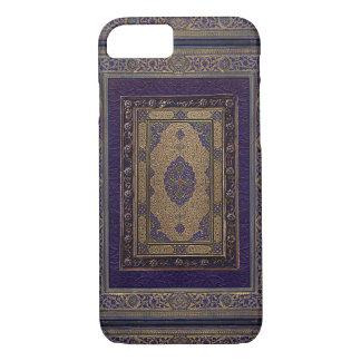 Or antique sur la couverture de livre décorative coque iPhone 7