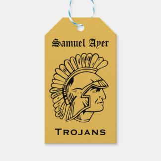 Or B ; rétro étiquette Trojan de cadeau de la