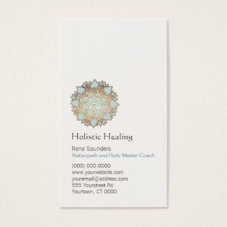 Or bleu santé holistique et naturelle de Lotus Cartes De Visite