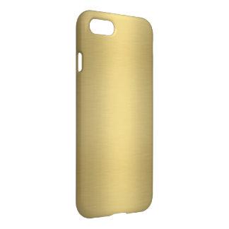 Or brillant élégant coque iPhone 7