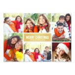 Or Chevron de la carte de Noël de collage de photo Faire-part