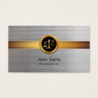 Or d'avocat et avocat modernes d'argent cartes de visite