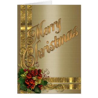 Or de carte d'élégance de Noël et victorien rouge